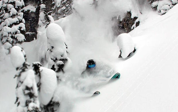 Good contact is key. photo: brian schott / skier: miles clark