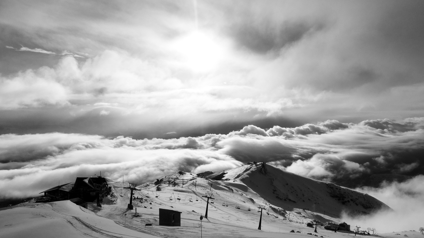 View from top of Bariloch ski resort, South America