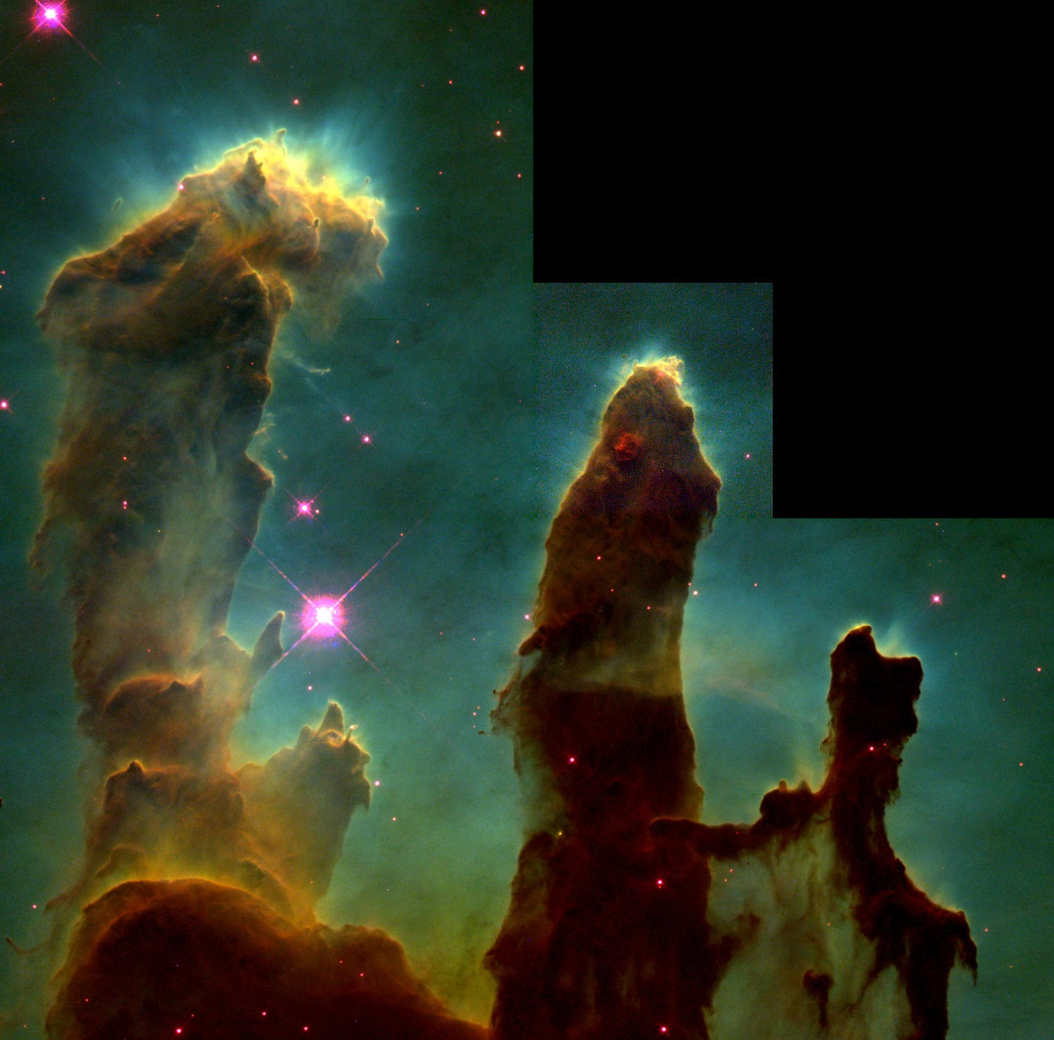Hubble Images Super High Resolution The Pillars of Creation