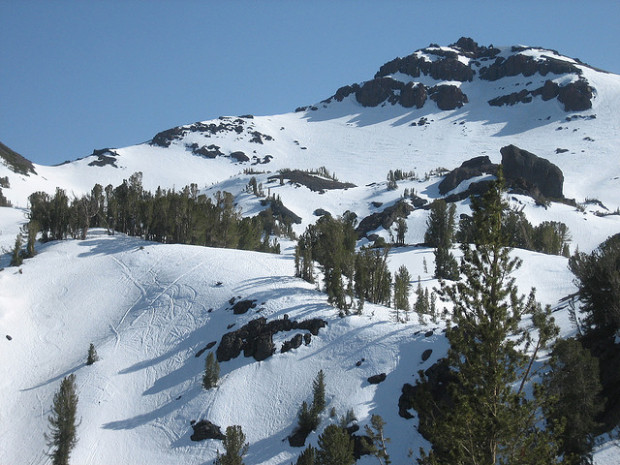 Great ski terrain immediately off Sonora Pass.  Very easy touring here.