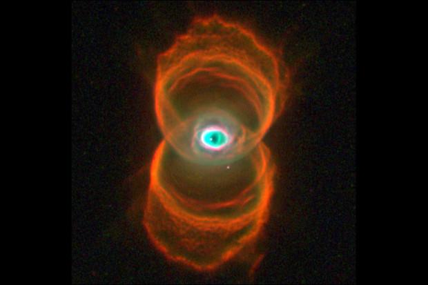 Hourglass Nebula.  8,000 light years away