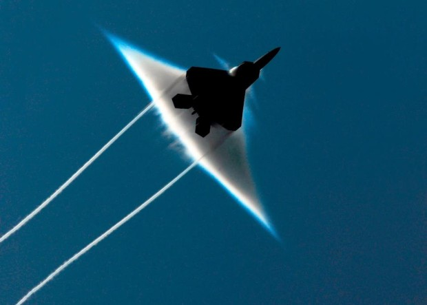 A sonic boom in a jet