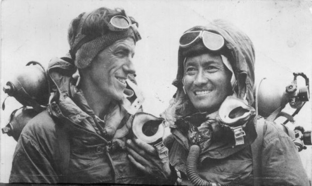 Hillary & Tenzig during the 1st summit of Everest in 1953