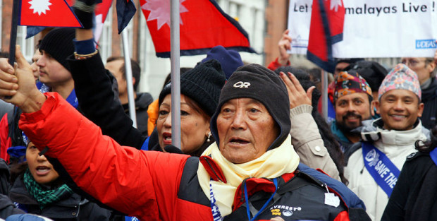 Min Bahadur Sherchan was nearly 77 years old when he reached the top on his first attempt