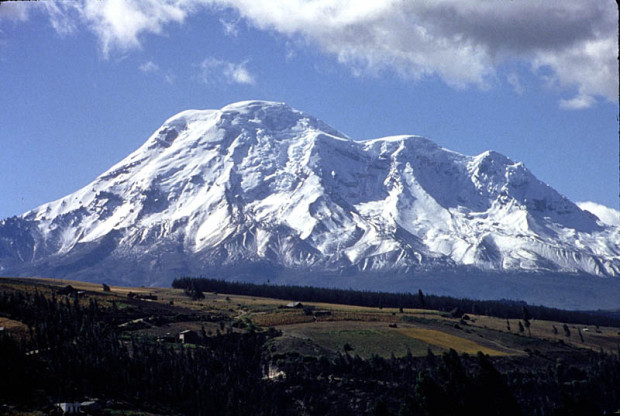 Chimborazo, the mountain furthest from the center of Earth