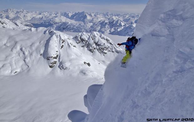 Jeremy Jones in Alaska.  photo:  seth lightcap