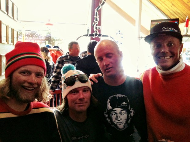 The Crew of the Eh team at the Squaw valley skinny ski a thon