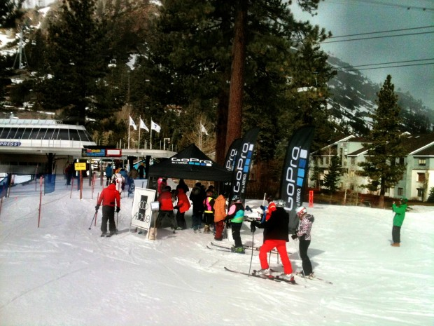 The KT loading deck going off for the skinny ski a thon