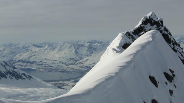 Valdez, AK as seen from the top of Meteorite Peak.