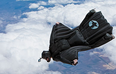 Jeb Corliss Doing his wingsuit flying from a plane