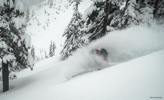 Mt. Baker powder day on March 18th, 2013.  photo:  brett benson