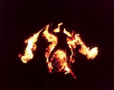 "Proof Troy is one of us.  In 1974 he lit himself on fire and did this stunt for the ski movie:  ""Children the of hildren"