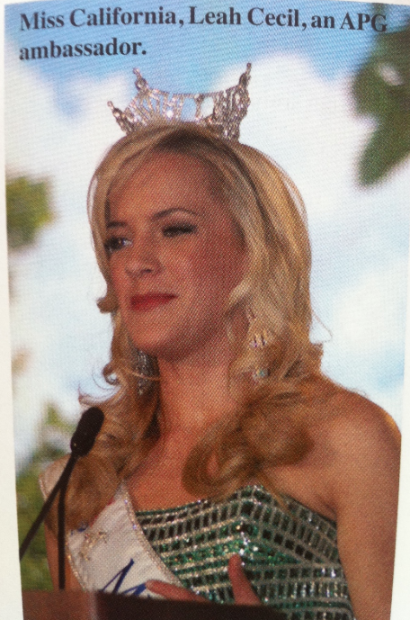 Miss California Leah Cecil and Pistachios
