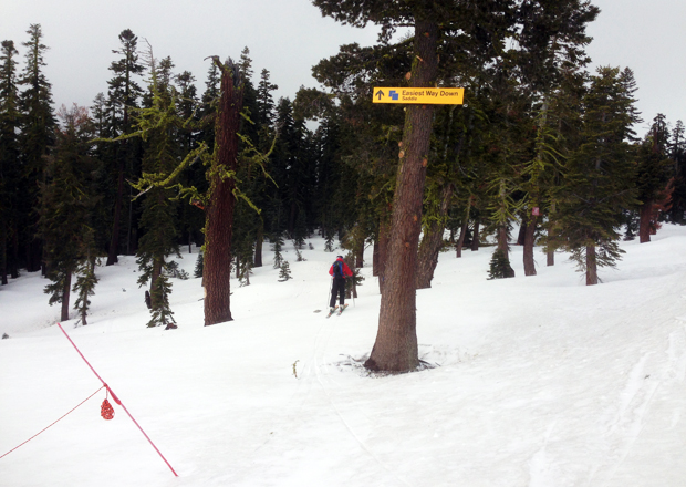 The start of the Squaw-Alpine Traverse