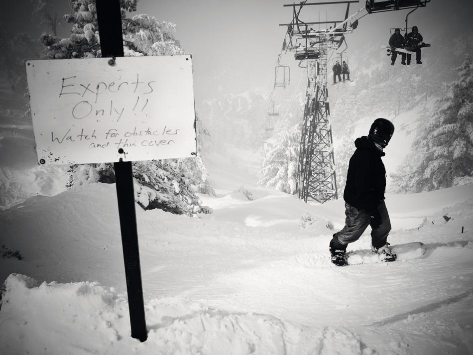 Mt. Baldy, CA. photo: Ryan Huges, snowboarder magazine