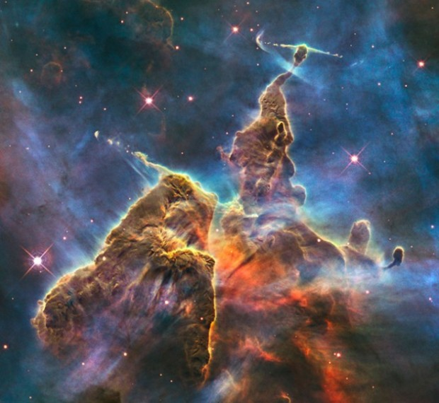 Hubble photo of space nebulae