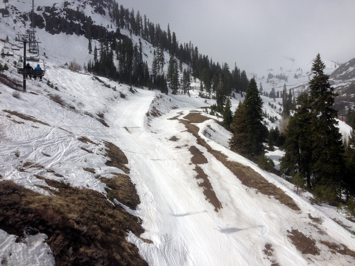 The high road on mountain run is closed for the year...and for good reason: it's all dirt