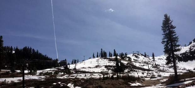 Looking up KT-22 at Squaw Valley