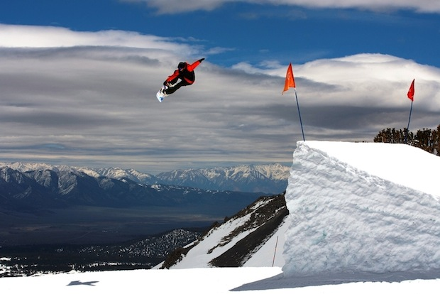 June Mountain park jump