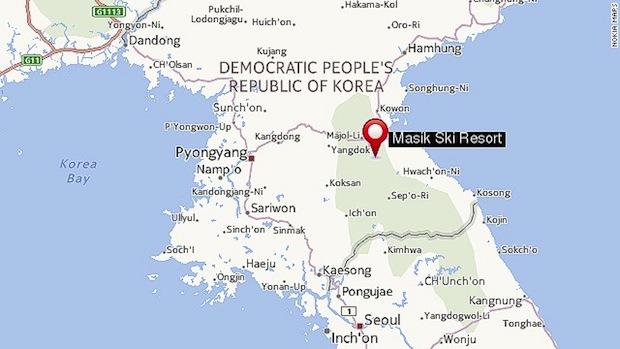North Korean ski area at Masik