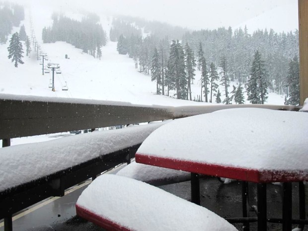 Late May Bachelor snow.  photo from today.