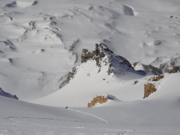 big avalanche terrain in Las Leñas, Argentina.  photo: sierra bourne