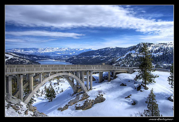 Donner Pass, Rainbow bridge, old hwy 40