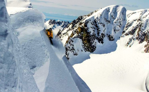 Matt Ward dropping in at Points North Heli in Cordova, AK in early April 2013.