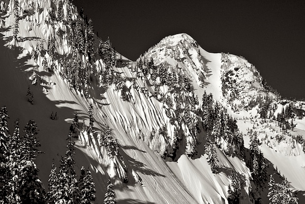 Mt. Baker sidecountry = Mt. Herman with flutes of snow. photo: lee rentz, snowiest