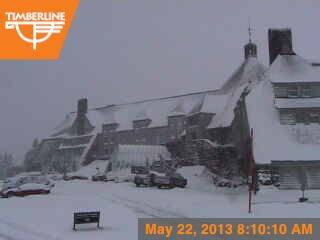 Timberline Lodge this am