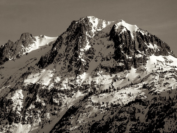Pete's Dream. A 1.5 hour skin from June Lake Ski Area and 4,000 vertical feet of fear.