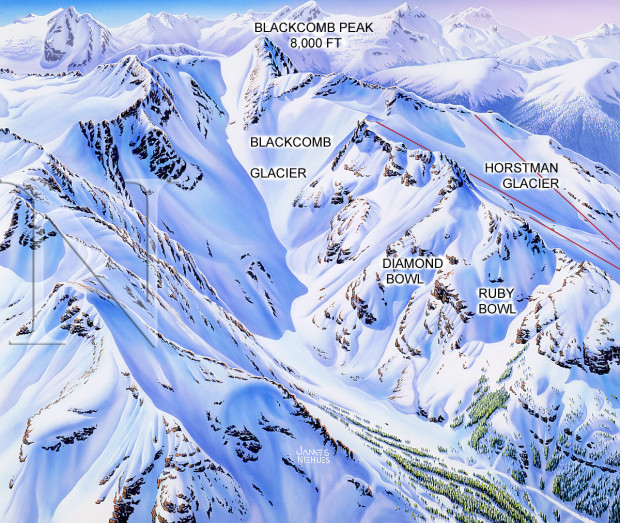 Blackcomb Glacier Map