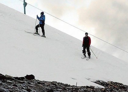 ski instructors at Chacaltaya near La Paz, Bolivia