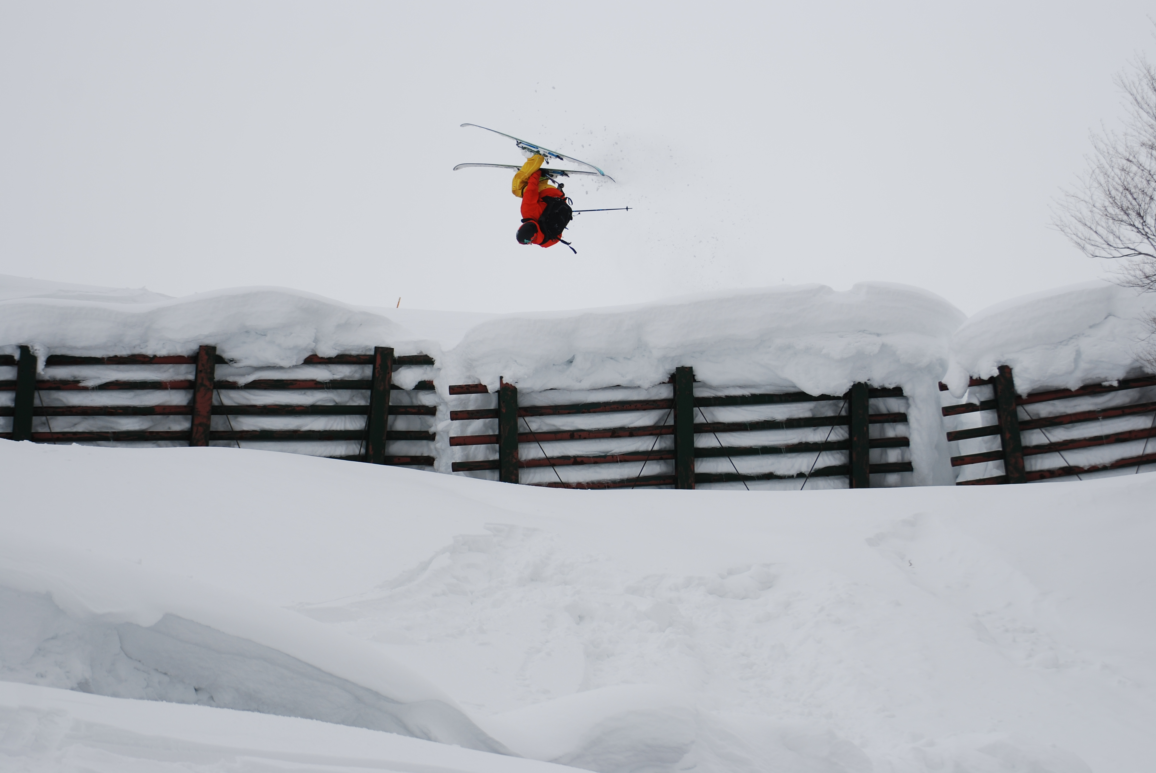 Lincoln loop off japanese avalanche fence snowbrains