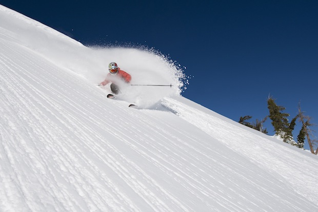 Early Ups at Squaw Valley'sGr .  skier: miles clark. photo: hank devre