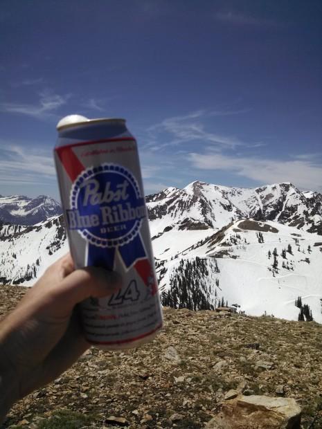 Celebrating spring on Mt. Baldy.