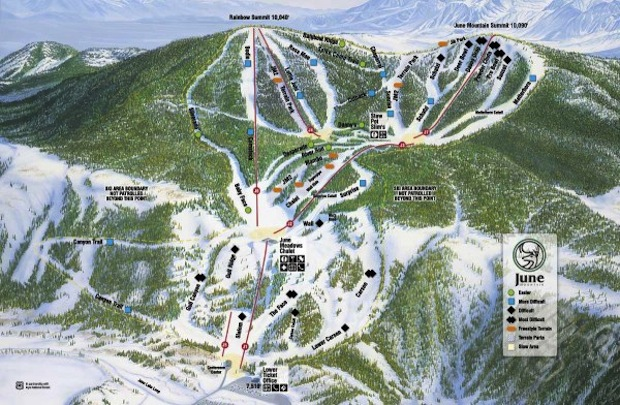 June Mountain trail map