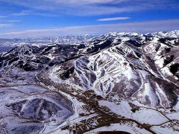 Park City from the air.