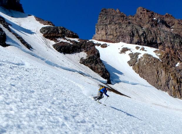 Zeb skiing the Cowlitz.  photo:  Tyler Jones