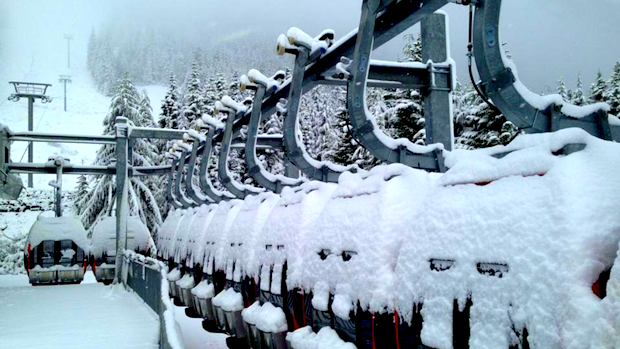 Crystal Mountain this morning
