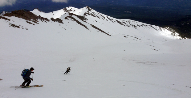 backcountry skiing mount shasta