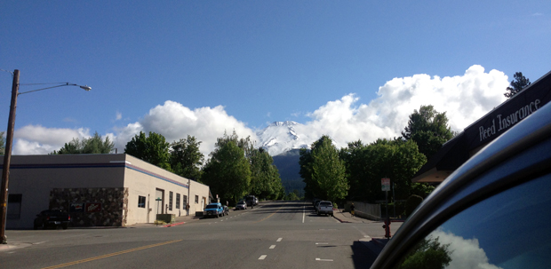 Mt. Shasta Viewed from town