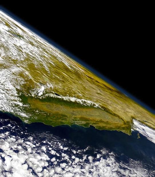 California Sierra Nevada from Space