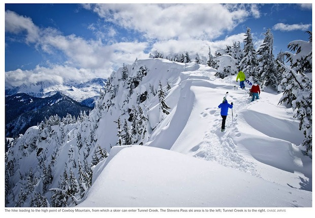 Stevens Pass hiking. photo: new york times