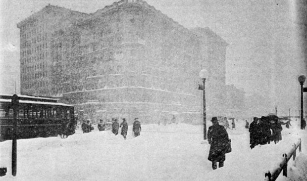 Blizzard of January 1922, snow