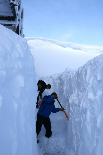 A good example of how deep it is at Mt. Hutt.  This is the restaurant'sdeck
