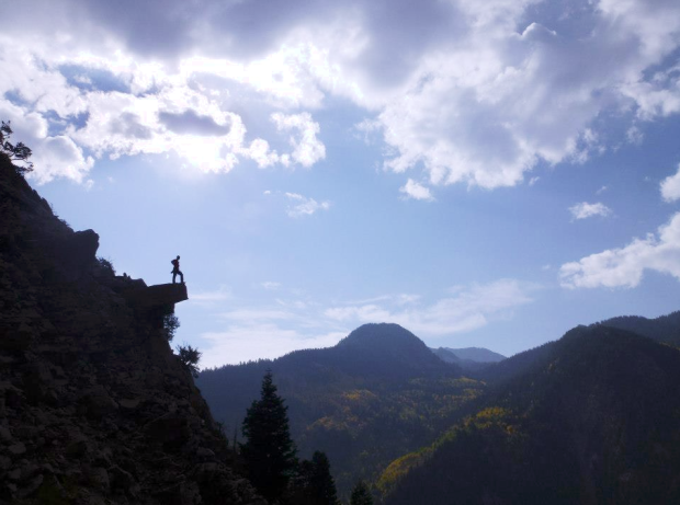 Myself, an REI Member, being epic in the Wasatch.  Photo: Jacqueline K.