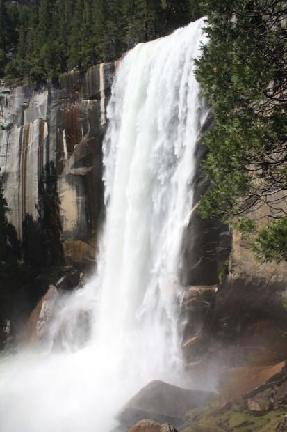 Vernal Falls, Yosemite, CA.  photo: miles clark