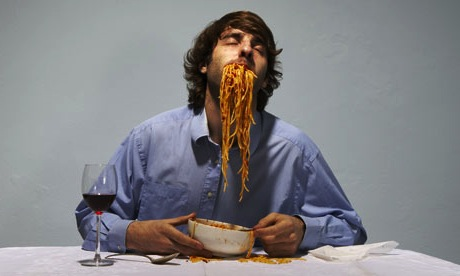 Drunken eating.  photo:  jim naughten/getty images