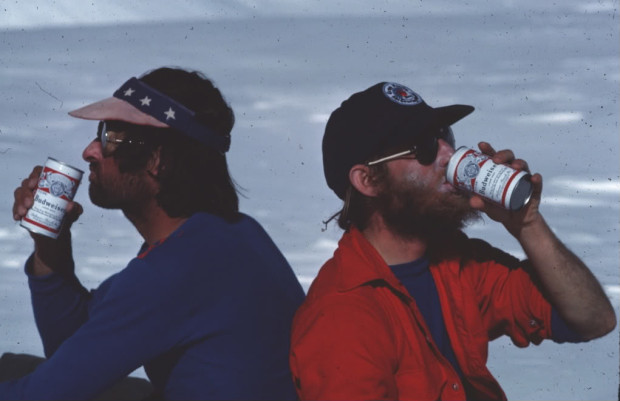 Gilette on the left. Beer in the mountains? Genius